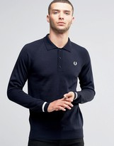 Fred Perry Knit Ls Polo Shirt Tipped Cuff