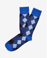 Express diamond dress socks