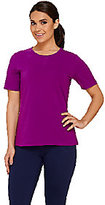 Denim & Co. As Is Active Short Sleeve T-shirt with Mesh Detail