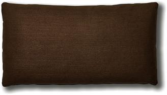 One Kings Lane Ada Long Lumbar Pillow - Walnut Linen - 12x23
