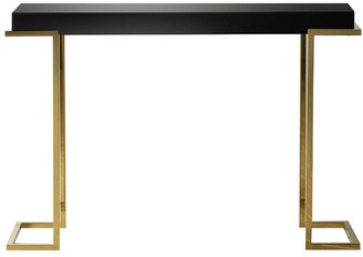 Gda Dalby Black Mirrored Console