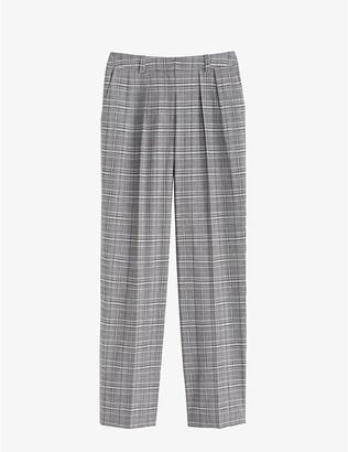 Claudie Pierlot Prusse mid-rise cotton-blend trousers