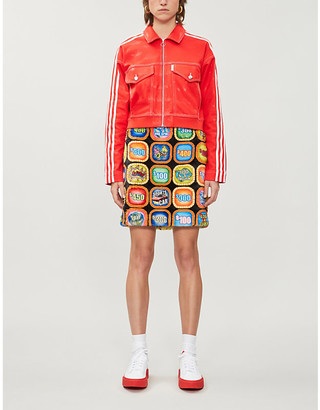 adidas x Fiorucci graphic-print recycled polyester and cotton-blend jacket
