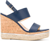 Hogan wedged sandals - women - Cork/Leather/Suede/rubber - 37
