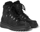 Moncler - Egide Shearling-trimmed Suede Boots