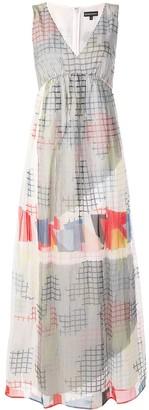 Emporio Armani v-neck geometric print dress