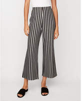 Express high waisted striped cropped wide leg pant