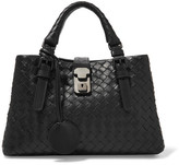 Bottega Veneta Roma Mini Intrecciato Leather Tote - Black
