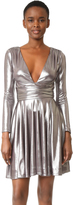 Halston Draped Metallic Dress
