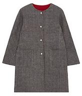 Gerard Darel Galia Reversible Coat, Grey/Red