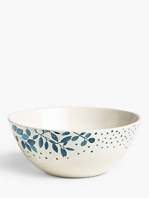 John Lewis & Partners Woodland Floral Cereal Bowl, 15.8cm, White/Multi
