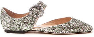 Jimmy Choo Gin Glitter Flat Shoes