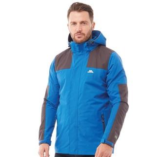 Trespass Mens Trolamul Hooded Waterproof Shell Jacket Blue