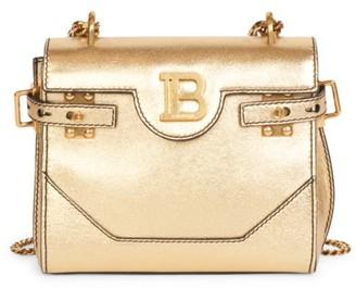 Balmain B-Buzz Metallic Leather Backpack