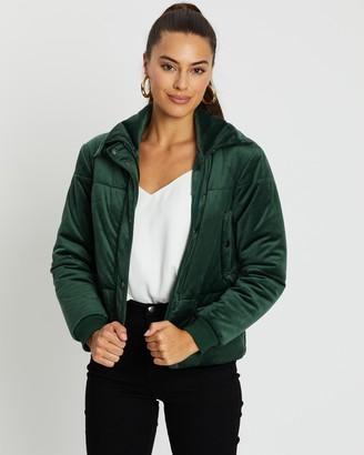 Atmos & Here Val Velvet Puffer Jacket