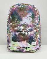 Spiral Rainbow Sequins Backpack
