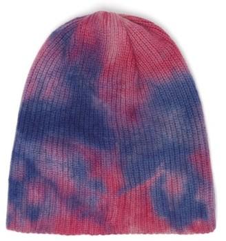 The Elder Statesman Hot-dye Cashmere Beanie Hat - Womens - Blue Multi