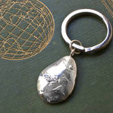 Tales From The Earth Sterling Silver 'World Is Your Oyster' Keyring