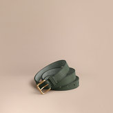 Burberry Trench Leather Belt , Size: 80, Green