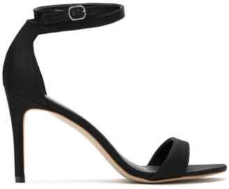 Sarah Chofakian Satin Stiletto Heel Sandals