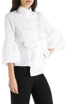 Carla Zampatti White Cotton Wrap Me Up Shirt