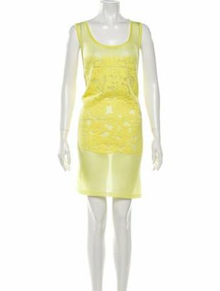 Mrz Scoop Neck Mini Dress Yellow