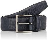 Barneys New York Men's Leather Belt-NAVY