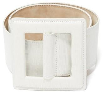 Carolina Herrera Square-buckle Canvas Belt - White