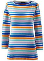 Classic Women's Tall 3/4 Sleeve Cotton Boatneck Top-Desert Khaki