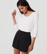 LOFT Polka Dot Pleated Shorts