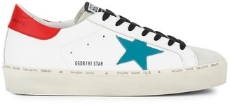 Golden Goose Hi Star white leather flatform sneakers
