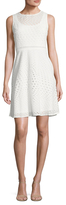 Julia Jordan Sleeveless Eyelet Dress
