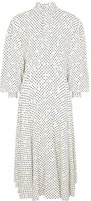 Christopher Kane White polka-dot midi dress