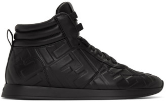Fendi Black Nappa Forever High-Top Sneakers