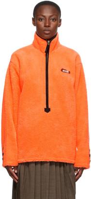Ader Error Orange Half Zip-Up Sweatshirt