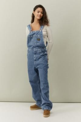 Stan Ray Earls Bib Denim Overalls - Blue XS at Urban Outfitters