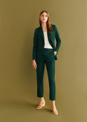 MANGO Straight suit trousers black - 6 - Women