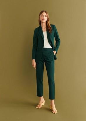 MANGO Straight suit trousers dark green - 4 - Women