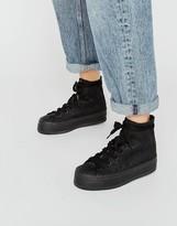 Calvin Klein Jeans Zabrina CK Logo Black Flatform Hi Top Sneakers