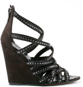 Barbara Bui Strappy suede wedge sandal