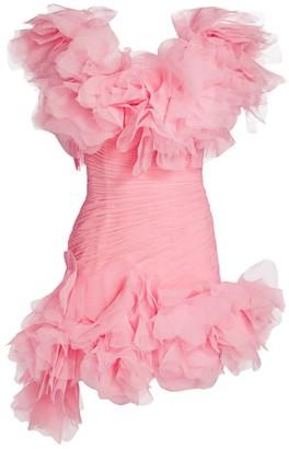 Raisa Vanessa Ruffle Mini One-Shoulder Drape Bodycon Dress