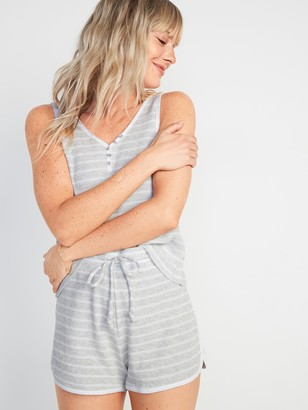 Old Navy Thermal-Knit Henley Pajama Tank Top for Women