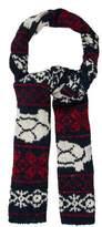 Thom Browne Wool Animal Pattern Scarf