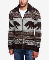 Lucky Brand Men's Zip-Front Bear Cardigan