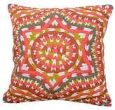 Embroidered Cotton Cushion Cover Multicolored Star Guatemala, 'Santiago Star'