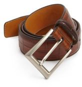 Saks Fifth Avenue COLLECTION BY MAGNANNI Croc-Embossed Leather Belt
