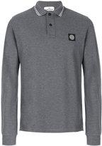 Stone Island longsleeved polo shirt - men - Cotton/Spandex/Elastane - M