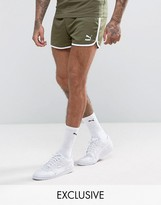 Puma Retro Mesh Shorts In Green Exclusive To Asos