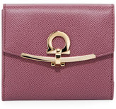 Salvatore Ferragamo French Gancio Clip Wallet, Pink