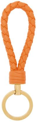 Bottega Veneta Orange Intrecciato Loop Keychain
